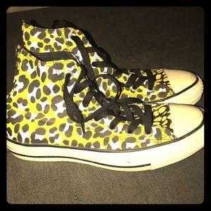 Converse shoes/ leopard print